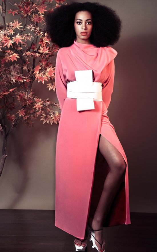 Solange rockin' the pink