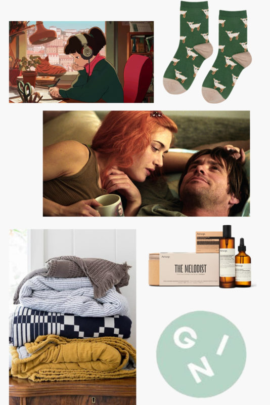 A collage of ways to incorporate relaxation at home